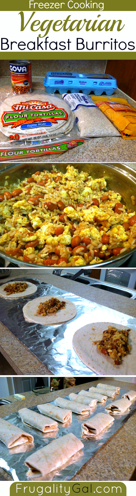Freezer cooking: Vegetarian breakfast burritos. Tasty, filling and ...