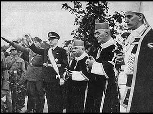 Croat Military and Religious leaders praising the brutality of the Ustaše regime