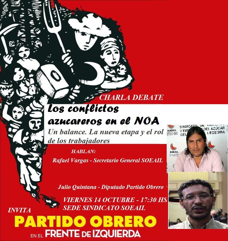 CHARLA: LOS CONFLICTOS AZUCAREROS EN EL NOA