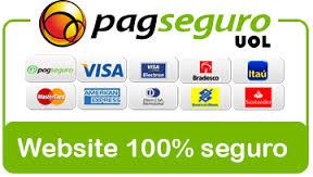 Todos os materiais do site tem garantia do PAGSEGURO. Aproveite para pagar em até 12x nos cartões.