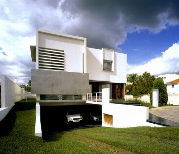 Contemporary house design modern home minimalist for Modern home plans with basement