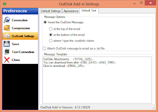 Image shows the OutDisk FTP addon settings page.