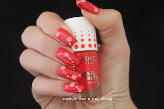 Kiko - Nail Diva 3D Nail Art Set - Lovely Coral