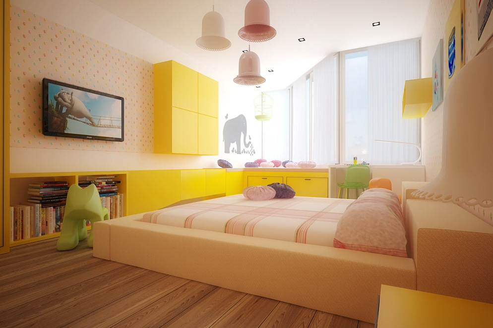 Colorful kids room interior decor ideas home design - Colorful room for kids ...