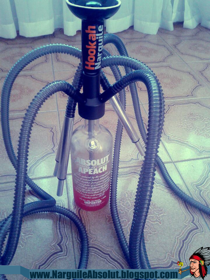 Narguile Absolut - Narguile na garrafa de Absolut