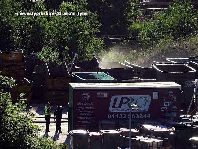 Waste, recycling, skips, fire, Bradford, Ripley, Street