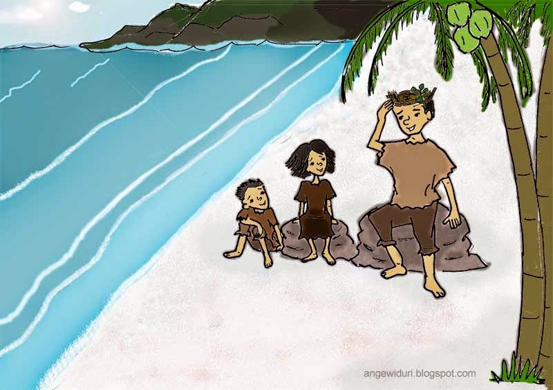 cerita-anak-pantai-laut-pasir-pohon-kelapa-kartun