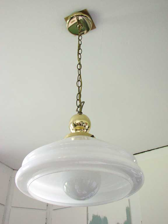 Kitchenlightbefore2g its the 12 allen roth bronze edison pendant light and was about 130 which isnt bad for lighting pottery barns calhoun glass pendant is similar aloadofball Choice Image