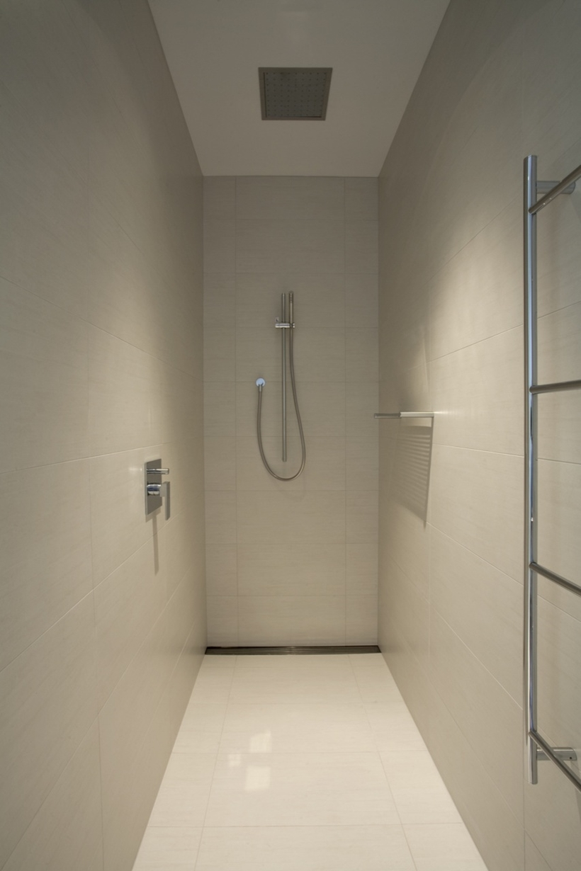 Shower in Kew House by Vibe Design Group