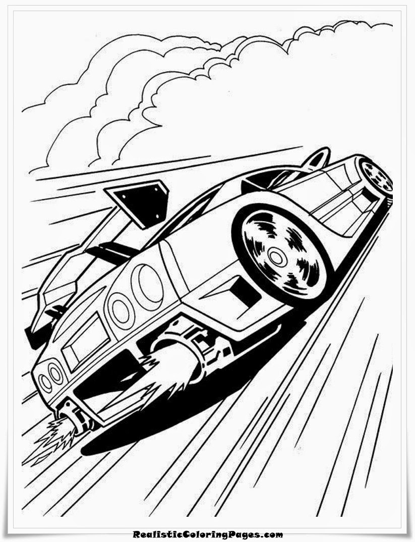 free hotwheels coloring pages to print