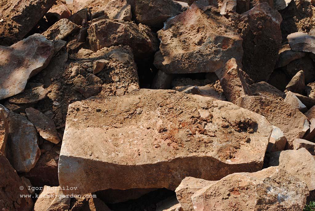 Бутовый камень из Рыльского района Курской области