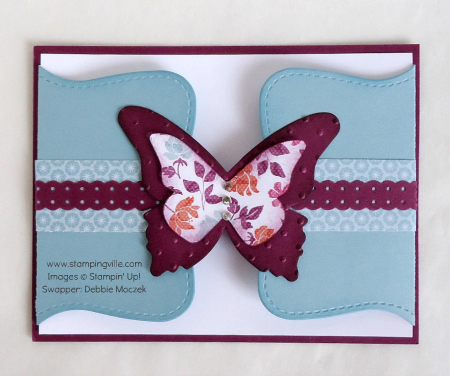 Fancy Fold Card with die cut butterflies