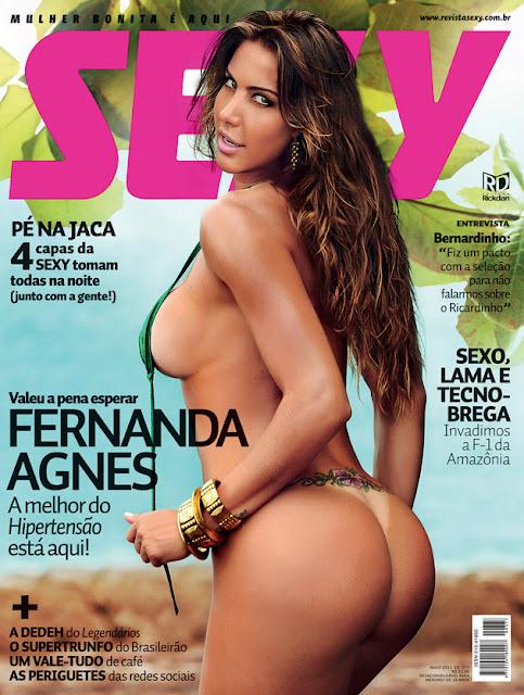 Confira as fotos da gostosa do programa Hipertensão, Fernanda Agnes, capa da Sexy de maio de 2011!