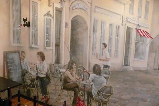 Aranżacja klubu, malowanie ścian w klubie, Warszawa, aranżacja pubu w Pałacu Kultury.