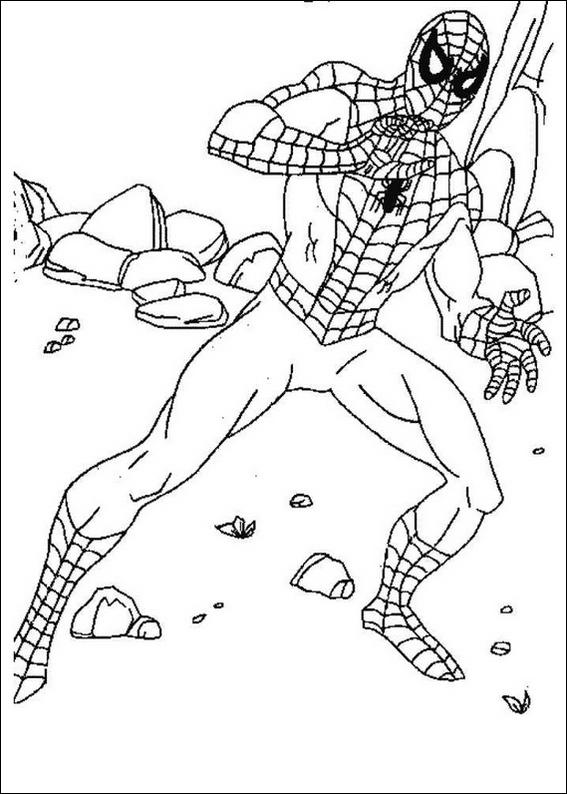 coloring pages online spiderman fighting - photo#7
