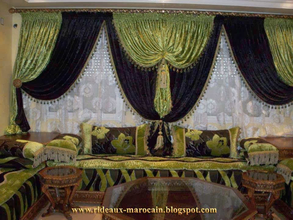 rideaux marocain rideaux occultants s par de luxe. Black Bedroom Furniture Sets. Home Design Ideas