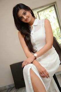 Actress Nikitha Narayan Picture Gallery in White Dress at Ladies and Gentleman Movie Press Meet 37.JPG