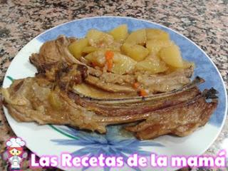 Receta de Chuletas de cordero con verduras al horno