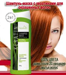 Шампунь-маска с кератинами для окрашенных волос