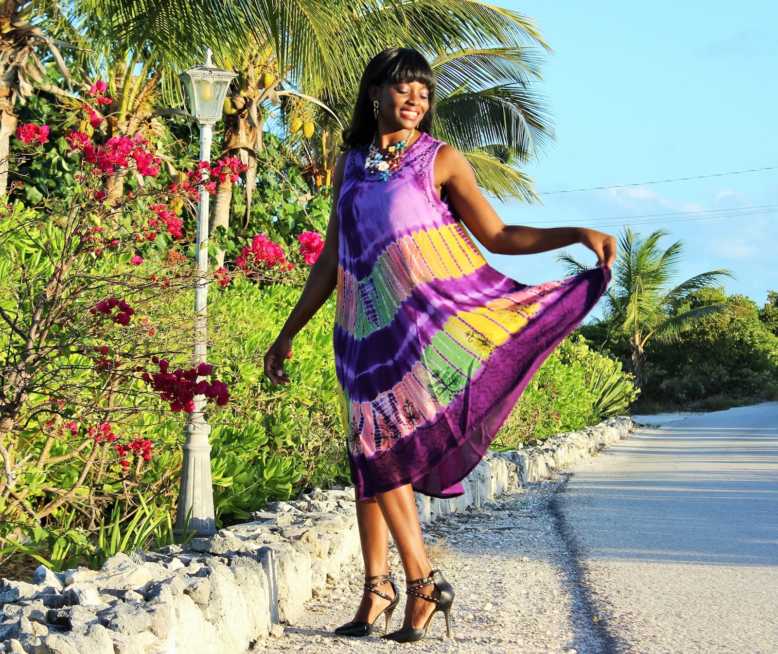 TIE AND DYE BELL DRESS