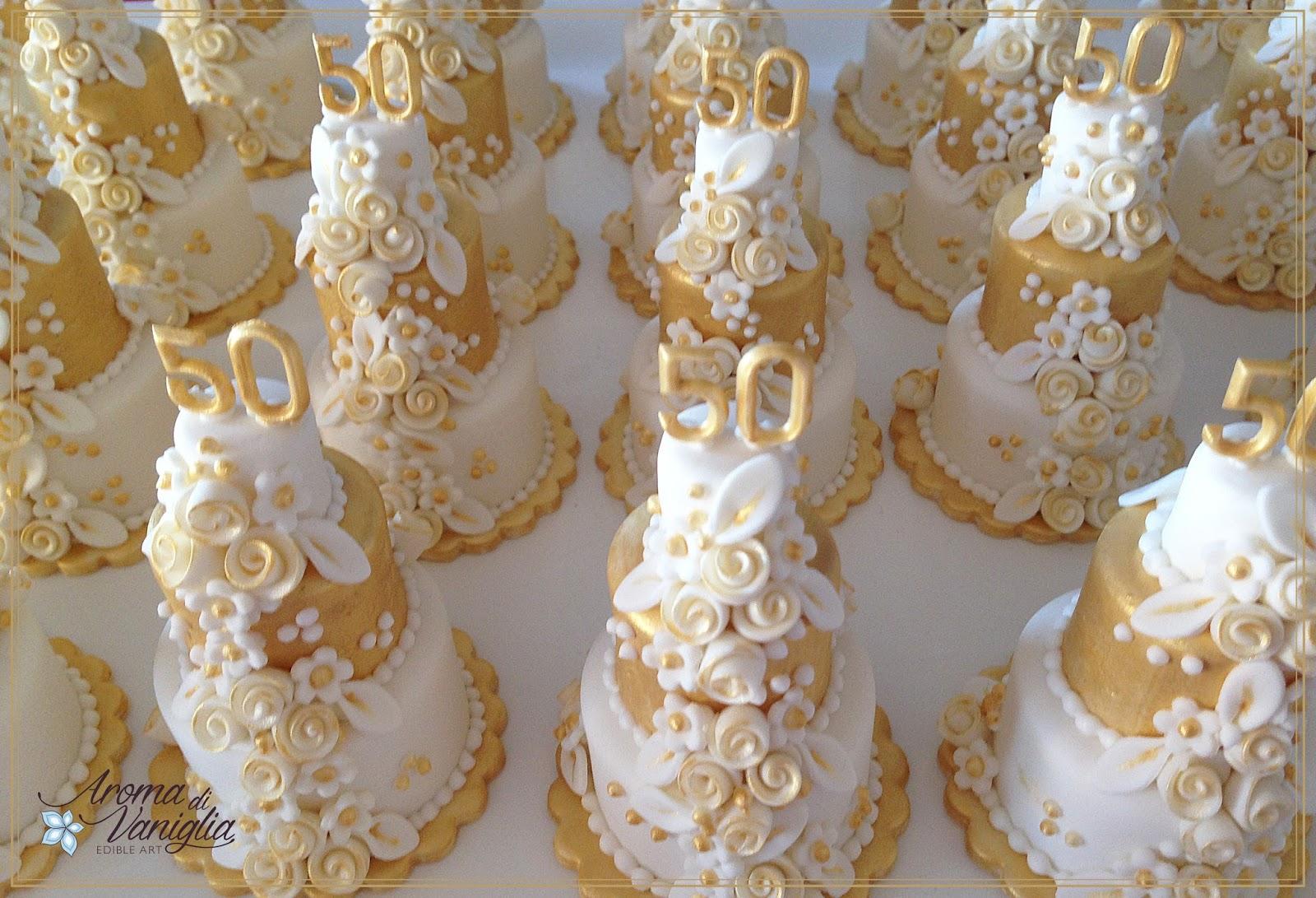 Aroma di vaniglia nozze d 39 oro for Decorazioni torte per 60 anni di matrimonio