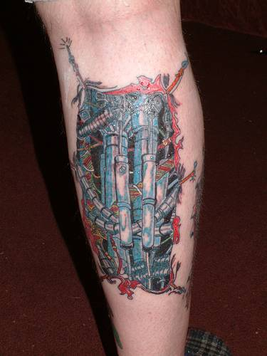 Biomechanical Tattoo Design