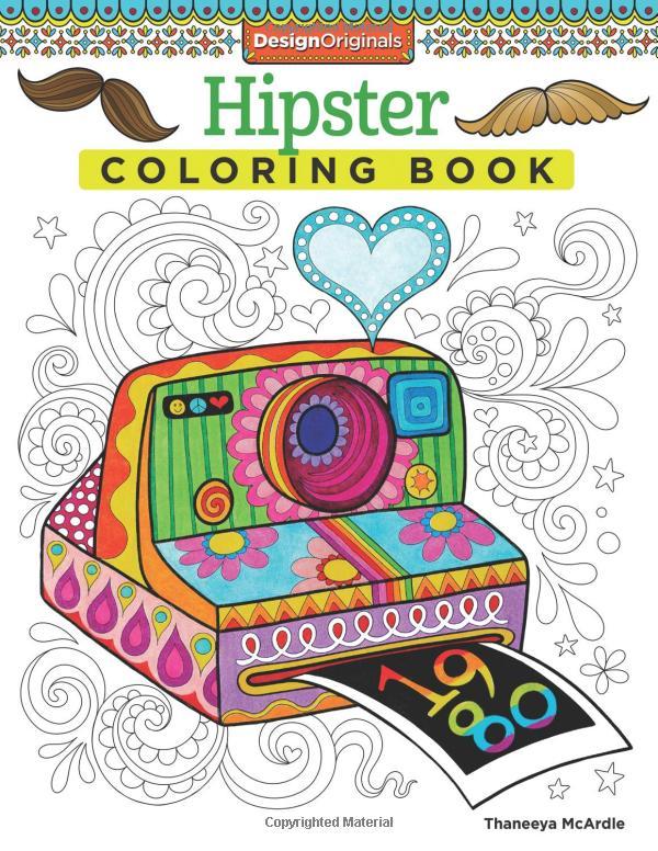 Prinsesa Hipster Coloring Book