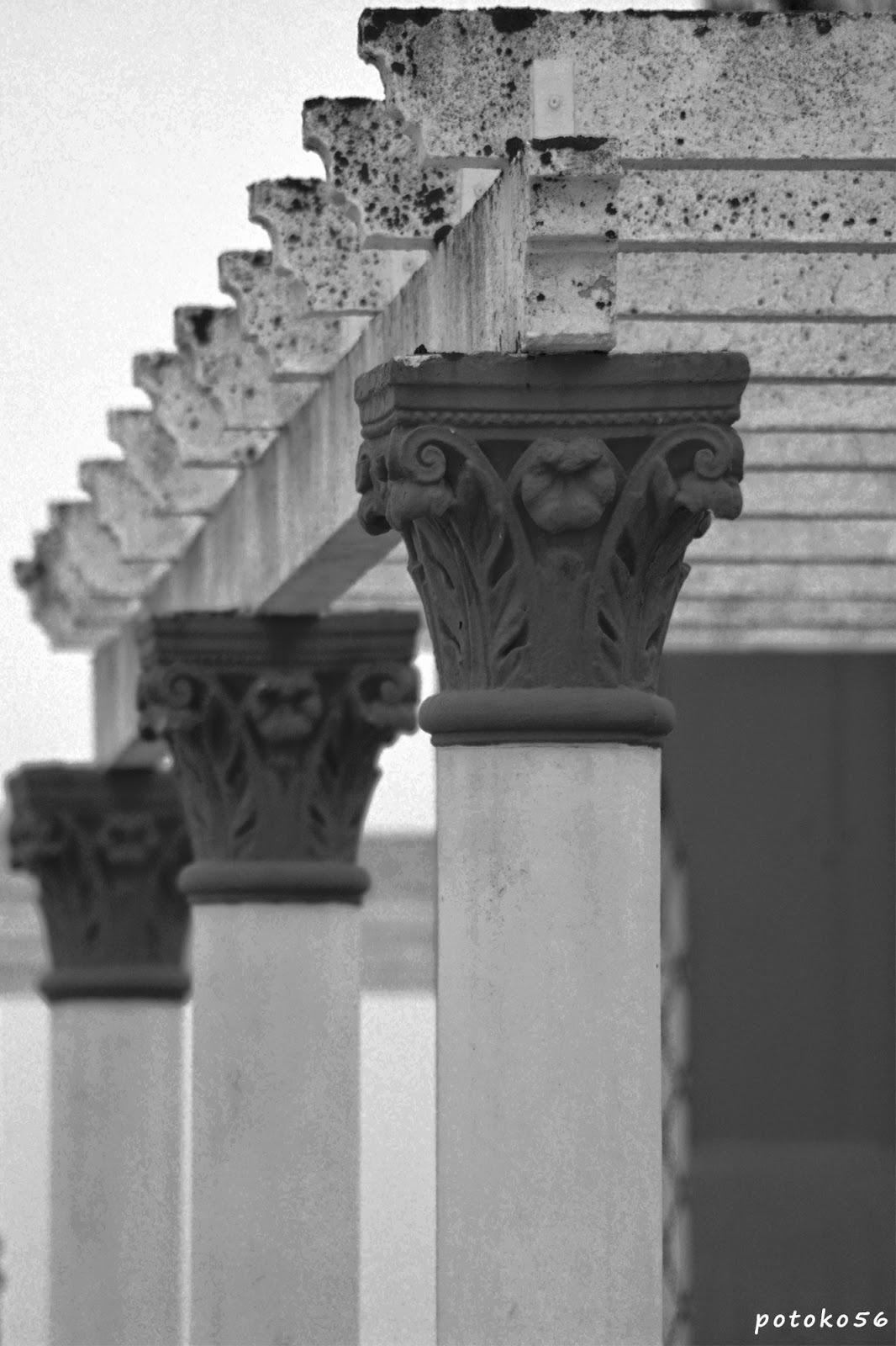 Columnas en el Mirador de las Almenas Rota