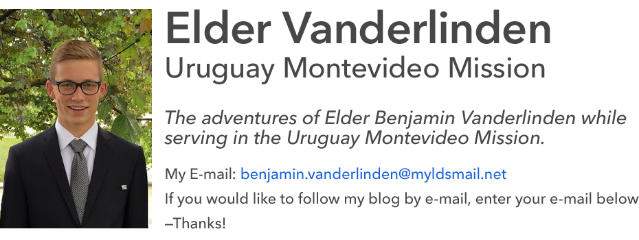 Elder Vanderlinden - Uruguay Montevideo Mission