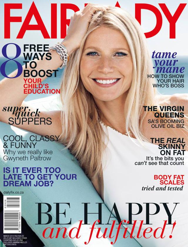 Gwyneth Paltrow en Fairlady Magazine Marzo 2014