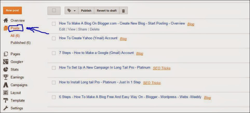 How To Make A Blog On Blogger.com - Create New Blog - Start Posting - Full Overview - With Pictures