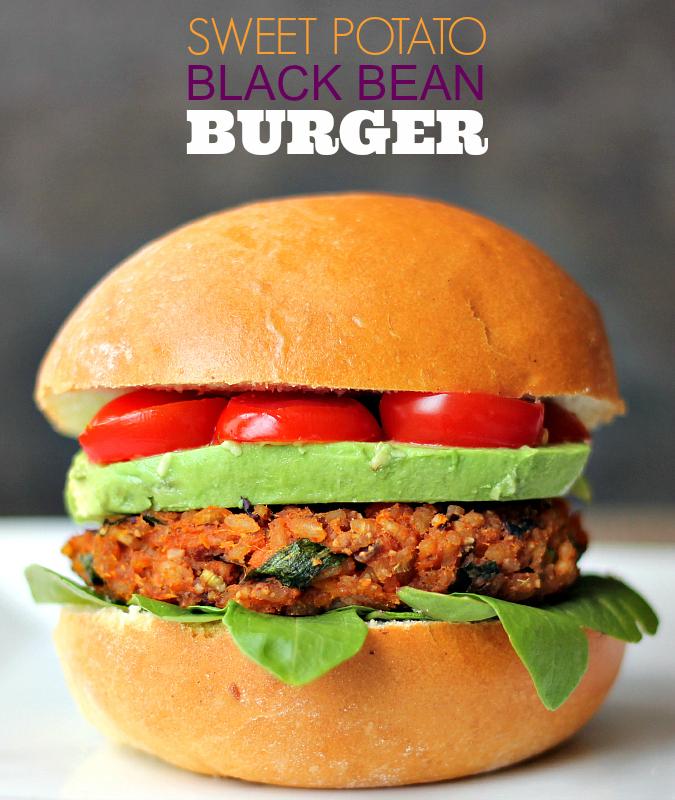 love, lauriesweet potato black bean burgers (vegan + gluten free)