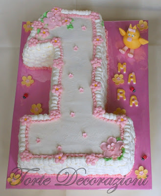 Torte e decorazioni torta 1 compleanno for Decorazioni compleanno bimba