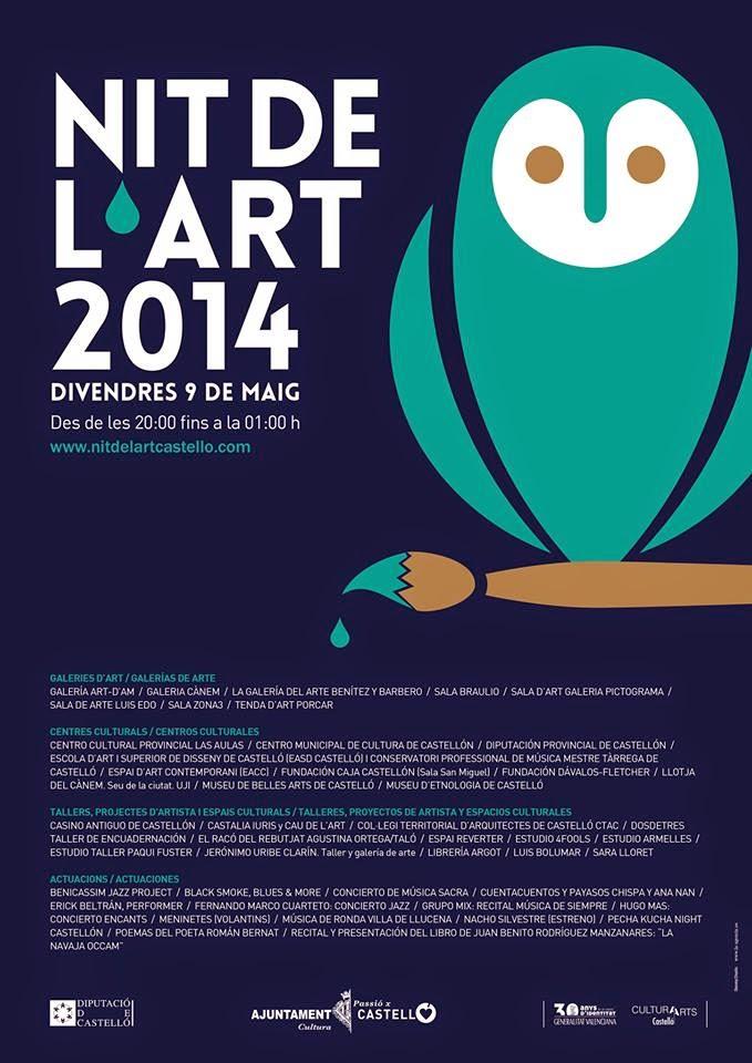 cartel nit de l'art castelló 2014