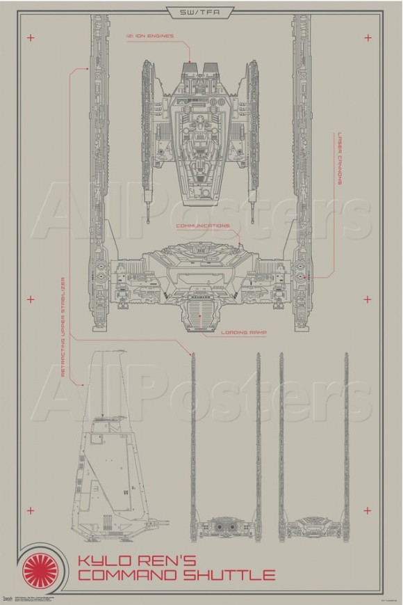 STAR WARS: THE FORCE AWAKENS Vehicle Schematics For the Millennium on tie advanced, tie phantom, y-wing schematic,