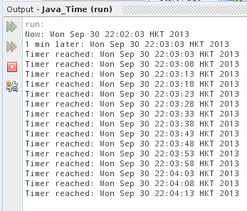 Run TimerTask in scheduled, repeated fixed-rate.