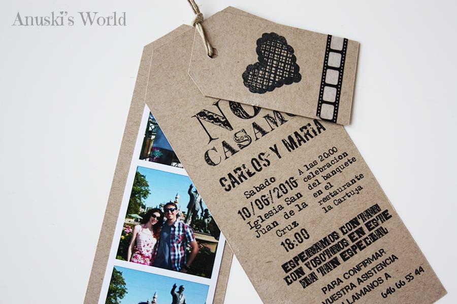 invitacin de boda original estilo fotomatn