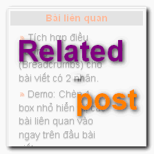 Box bài viết liên quan dưới tiêu đề bài viết cho blogger