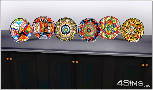 Decorative Mexican Plates by Mirel & My Sims 3 Blog: Decorative Mexican Plates by Mirel