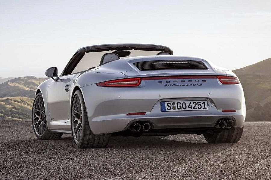 Porsche 911 Carrera 4 GTS Cabriolet (2015) Rear Side