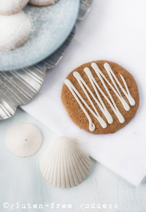 Gluten-Free Goddess Recipes: Lemon-Iced Ginger Thins