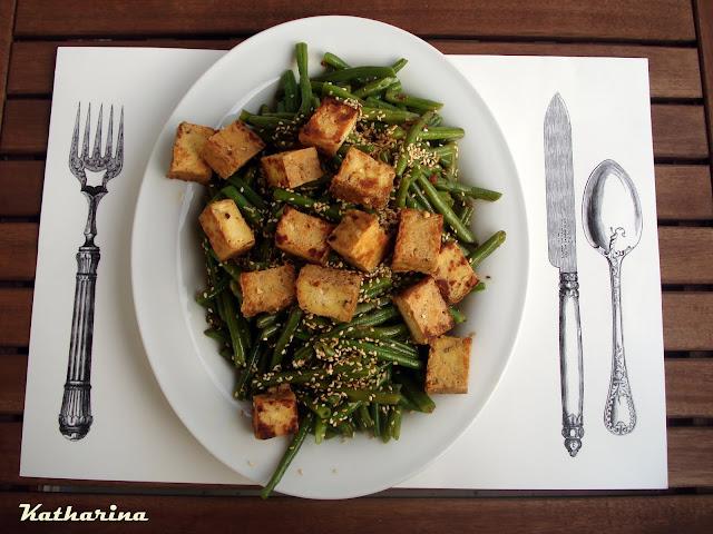 Grune Bohnen Farbe : GrüneBohnenSalat mit gebratenem NussTofu  Katharina kocht