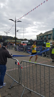 Colin Snook Cornwall Athletics club winning the Truro Half Marathon 2015