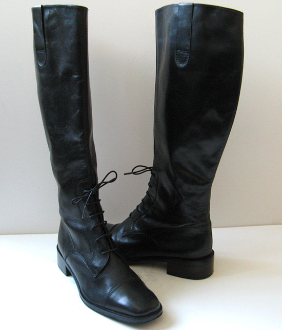 Original Chuckies Womens Black Leather Half Zip Riding Boots  Eonew Shop