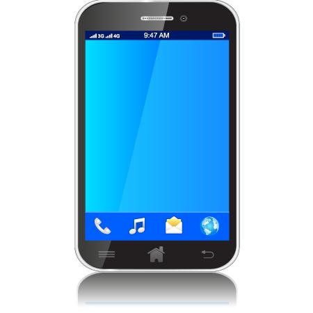 Smartphone negro - Vector