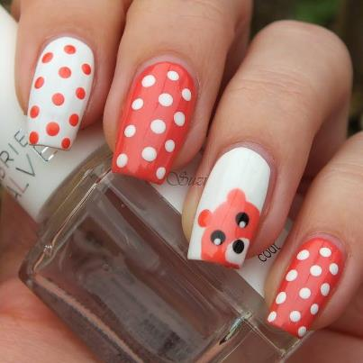 And Bows To Ble Bee Stripes Colorful Candy Dots Cute Animal Faces Dog Paws Read On See More Of Our Favorite Whimsical Nail Art Designs