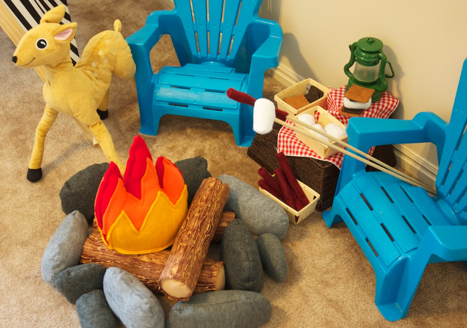 Fabric Toys Indian Village Pretend /& Play Set