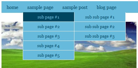 Menu dan sub menu Blog SEO Friendly 2013