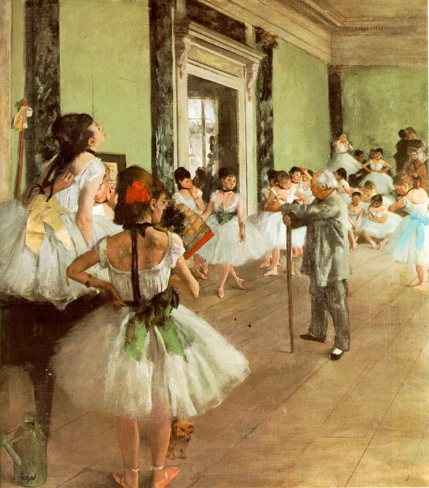 edgar degas classe danse