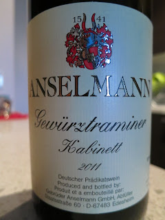 Label photo of 2011 Anselmann Gewürztraminer Kabinett from Pfalz, Germany